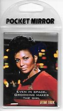 Star Trek The Original Series Lt. Uhura and Quote Pocket Mirror New Unused
