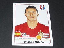 THIAGO ALCANTARA BAYERN ESPAÑA ROJA EXTRA STICKER PANINI FOOTBALL UEFA EURO 2016