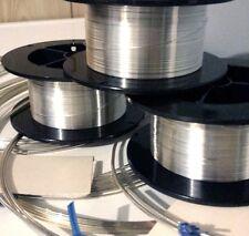 """925 Sterling Silver ROUND Wire Coils 6"""" thru 60' Gauges 8 thru 30 Dead Soft USA"""