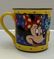 Walt Disney Minnie Mouse Ceramic 3D Coffee Tea Mug Cup Yellow With Light Blue