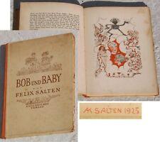 Kinderbuch 1925 BOB UND BABY Felix & Anna Katharina Salten PAUL ZSOLNAY VERLAG