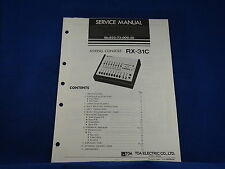 TOA RX-31C Mixing Console Service Manual