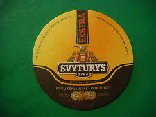 Beer Coaster ^**^ SVYTURYS Brewery Ekstra, Our Finest ~ LITHUANIA ~*~ Since 1784
