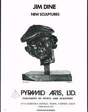 1976 Vintage Jim Dine Kitaj Portrait Sculpture Pyramid Art Photo Print Ad
