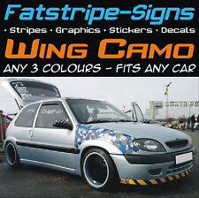 CAR CAMO WING KIT GRAPHICS STICKERS DECALS CAMOUFLAGE VINYL WRAP ST VW FORD