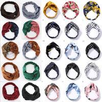 Women Wild Velvet Twist Headband Cross Knot Elastic Hair Band Turban Accessories