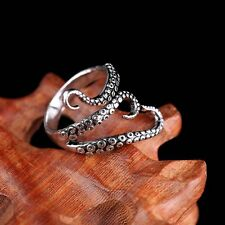 Women Men Punk Vintage Silver Octopus Finger Open Adjustable Ring Jewelry Hot