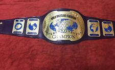 WWF IC OVAL INTERCONTINENTAL WRESTLING CHAMPIONSHIP  BELT IN 4MM BRASS PLATES !