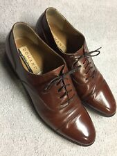 Domani Johnston & Murphy Brown Leather Oxford Captoe Dress Shoes Italy Size 10 M