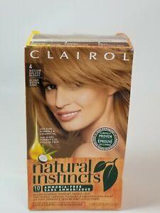 New Clairol Natural Instincts Hair Color #4 Med Golden Blonde Former Sunflower