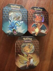 Pokemon Hidden Fates Tin Set Of 3 Brand New Sealed