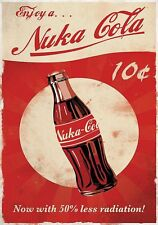 Fallout 76 NUKA COLA Inspired Vintage Vault Boy PS4 Game Xbox Pc Door Metal Sign