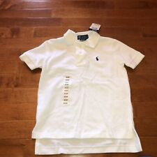 Polo by Ralph Lauren Toddler Boy Short Sleeve White Polo Shirt Top 3T New