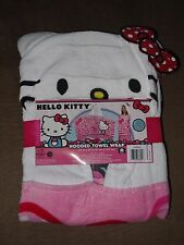 """Hello Kitty Hooded Towel Wrap-24"""" X 50""""-100% Cotton-New"""