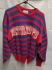 VINTAGE NEW ENGLAND PATRIOTS BY CLIFF ENGLE Pro Line SWEATER NFL LARGE