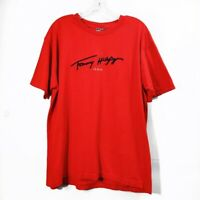Tommy Hilfiger Red Graphic Short Sleeve Tshirt Tee Crewneck Mens Size Medium M