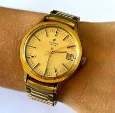 Vintage Vulcain Revie 17j Yellow Tone Mechanical Swiss Men's Wrist Watch Runs