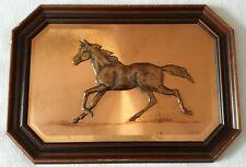 Vintage Magowan Signed Copper Art 3D Horse Framed