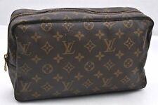 Auth Louis Vuitton Monogram Trousse Toilette 28 Clutch Hand Bag M47522 LV 96572