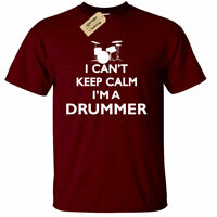 Drummer Keep Calm T-Shirt Funny drumming gift musician band mens