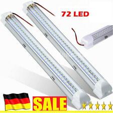 2x 72 LED Dach Lampe Leuchte Innenraum Beleuchtung Licht Auto Kfz 12V Weiß DHL