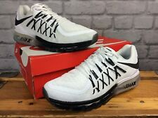NIKE MENS UK 9 EU 44 AIR MAX 2015 WHITE BLACK TRAINERS RRP £140 LG
