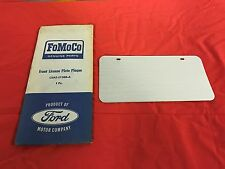 NOS FORD LINCOLN MERCURY ACCESSORY LICENCE PLATE C5AZ-17388-A MUSTANG FALCON