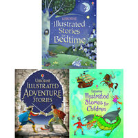Usborne Illustrated Story Series 4  Collection 3 Books Set Bedtime Children NEW