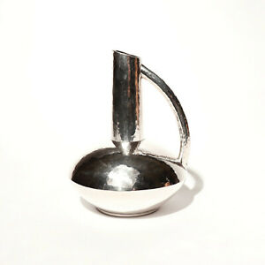 Japanese hammered silver vase by Seiho