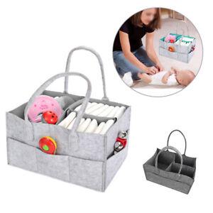 Felt Baby Diaper Caddy Nursery Storage Wipes Bag Nappy Organizer Container UK