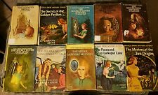 Vintage NANCY DREW COLLECTIBLE MYSTERIES lot of 10 Books Matte Yellow Cover