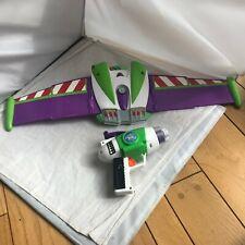"Buzz Lightyear Talking Wings Jetpack 30"" & Laser Gun Toy Story Costume Fold Out"