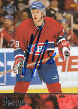 MIKE KOMISAREK CANADIENS AUTOGRAPH AUTO 03-04 UPPER DECK #102 *22510