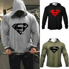Men's Fitness Gym Workout Bodybuilding Raglan Hoodies Sweatshirts Pullover