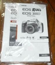 Canon Eos Digital Rebel 300D Camera Instructions Manual User Guide Spanish Nip