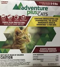 New Adventure Plus for Cats 4pk 5 9lb Free Shipping