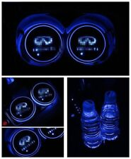 2PCS New Colorful for INFINITI LED Car Cup Holder Pad Mat Auto Atmosphere Lights