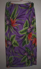Worthington Wrap Skirt Tropical Floral Silk Long Back Lining Size 8