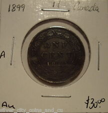 Canada Victoria 1899 Large Cent - AU