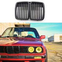 Pour BMW 3-Series E30 M3 83-91 Grille de calandre pour pare-chocs avant noir mat