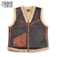 Bronson USAAF Type C-3 Winter Shearling Flight Vest Vintage Men's Flying Jackets