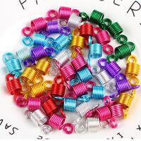 10pcs Spiral Metal Dreadlock Beads Cuffs Clips Hair Braid Tube Jewelry Decor Hot