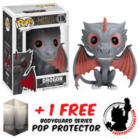 FUNKO POP GAME OF THRONES DROGON VINYL FIGURE + FREE POP PROTECTOR
