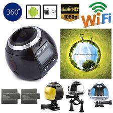 WIFI 360 Degree 4K HD 1080P Waterproof Sports DV Camera Helmet Action XDV360 V1
