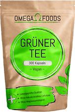 Grüner Tee Kapseln - 300 Kapseln 1.000mg pro Tagesdosierung - Grüntee Extrakt
