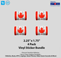 """4- Pack 2.25"""" x 1.75"""" Canadian Oil Barrel Stickers"""