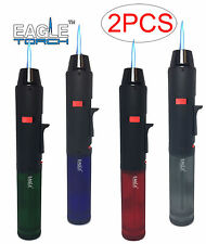 2 Pack Eagle Torch Pen Gun Cigar Lighter Butane Refillable Semi-Transparent Tank
