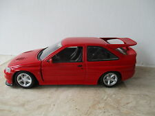 altes Modellauto UT MODELS Ford Escort Cosworth in rot Maßstab 1:18 ohne OVP