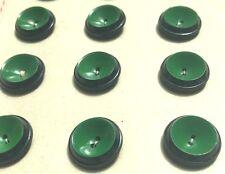 24 italien noir & Vert Vintage 2cm boutons