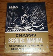 1966 Chevrolet Chassis Shop Service Manual 66 Chevy II Chevelle Corvette